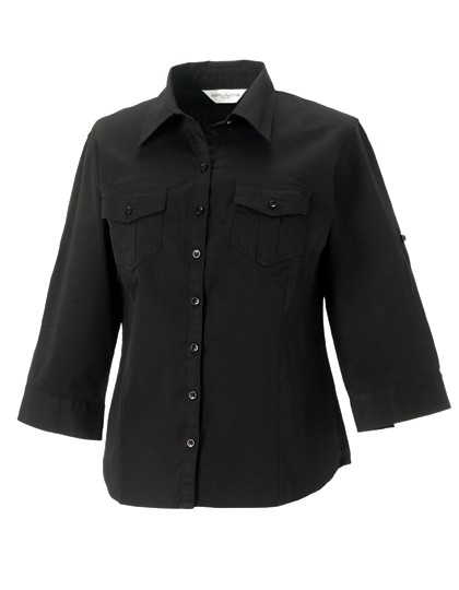 Ladies´ Roll 3/4 Sleeve Twill Shirt