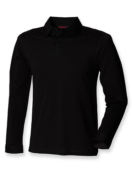 Mens Long Sleeved Stretch Polo