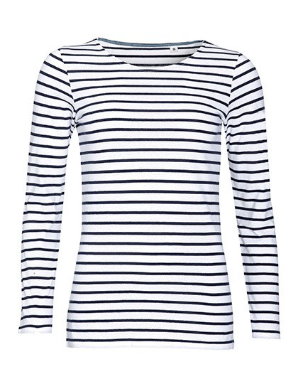 Women´s Long Sleeve Striped T-Shirt Marine