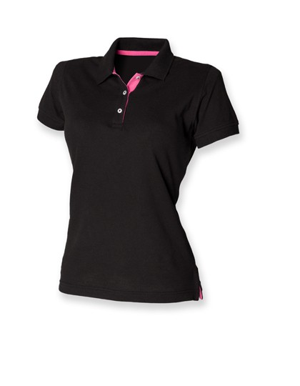 Ladies Contrast Piqué Polo Shirt 65/35
