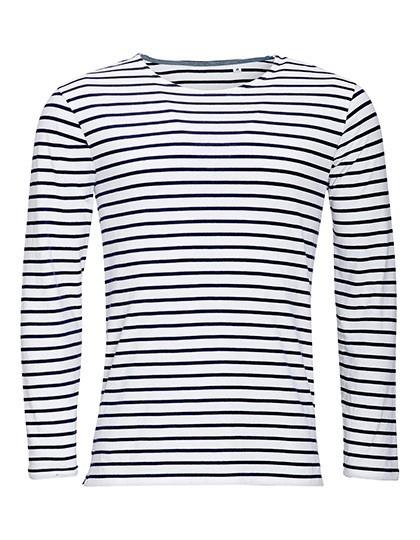 Men´s Long Sleeve Striped T-Shirt Marine