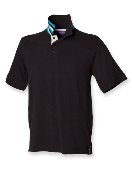 Men´s Striped Collar Polo Shirt