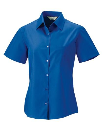 Ladies´ Short Sleeve Pure Cotton Poplin Shirt
