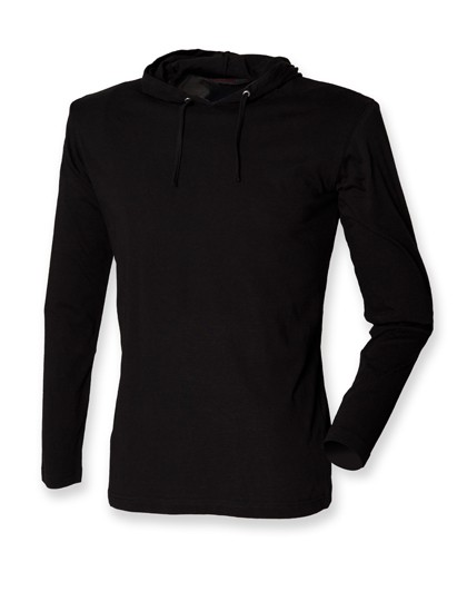 Mens Long Sleeved Hooded T