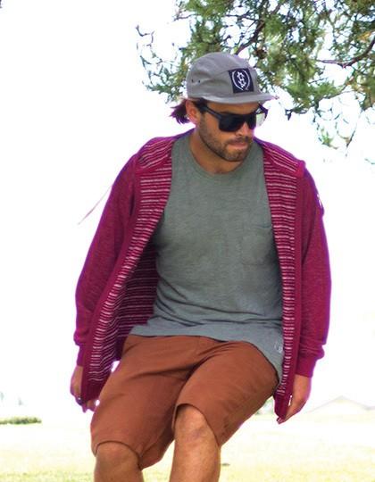 Men´s Midweight Baja Stripe French Terry zip Hood