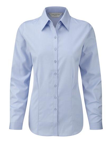 Ladies´ Long Sleeve Herringbone Shirt